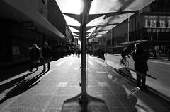 Separation (Eric Flexyourhead) Tags: vancouver canada britishcolumbia bc downtown granvillestreet city urban street streetphotography reflections layers monochrome blackwhite bw ricohgr ricohgw3