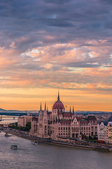Sunset in Budapest (Vagelis Pikoulas) Tags: sun sunset budapest parliament hungary europe travel holidays tamron 70200mm vc danube canon 6d city cityscape landscape urban
