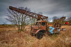 Rural Decay (gixerbrian1964) Tags: rural decay crane rust abandoned wreck vehicle lorry