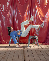Kelly (J Trav) Tags: model pose beautiful curtain backdrop red marfa texas shoes portrait