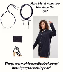 Today's Featured Item: Hero Metal + Leather Necklace Set $52 Shop: https://www.chloeandisabel.com/boutique/thecelticpearl/products/N458/hero-metal-+-leather-necklace-set  Every Modern Muse knows versatility is key to an effortlessly chic wardrobe. For a w (thecelticpearl) Tags: love trending new spring2k19 shop navy trend buy lifetime guarantee metal chloeandisabel suede daily feature trendy trends rhodium shopping jewelry product set boutique accessories thecelticpearl spring necklaces mixed ootd candi online shiny style fashion