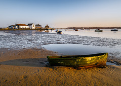 Broken boat (Anthony White) Tags: christchurch england unitedkingdom gb broken boat pub publichouse sand sunset dorset