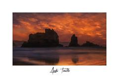 (anahí tomillo) Tags: nikond7500 naturaleza nature paisaje landscape playa beach puestadesol sunset mar sea cantábrico asturias sigma1750f28 lightroom