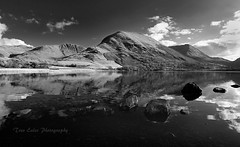 Almost reflected: Brothers Water. (trev.eales) Tags: hartsopdodd graycrag highstreet brotherswater water rocks mountains lake lakedistrict cumbria nationalpark landscape waterscape reflections reflected sky clouds monochrome nikon treveales
