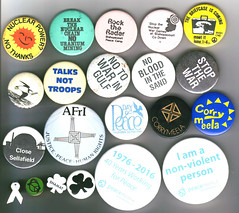 Miscellaneous peace (and related) badges (INNATE - Nonviolence Network in Ireland) Tags: badges ireland 1970s 1980s 1990s 2000s 2010s peace antinuclear
