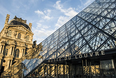 France, Paris (marina.arriva) Tags: d3000 louvre glass art paris sky cloud blue white building architecture style old new background engineering