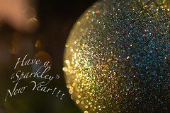 Happy New Year (ImagesByLin) Tags: decorations happynewyear newyear sparkling sparkley sparkle celebrate bestwishes happynewyear2019 gold macro light wishes sparkly macrophotography celebrating