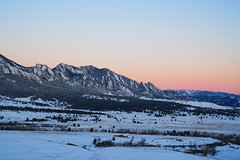 Flatirons - Boulder Colorado Snow (Bernie Duhamel) Tags: flatirons colorado winter bernie duhamel bouldercounty boulder snow mountains mountain bearpeak frontrange greatphotographers teamsony rockymountains sonya7riii sony2470mm sunrise