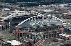 Century Link Field - Seattle Seahawks (4 Pete Seek) Tags: seattle seattlewa seattlewashington aerialphotography aerialview cityscape seattlecityscape