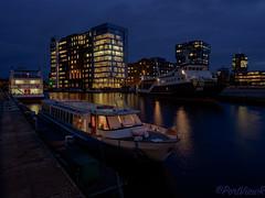 Residual light of a cloudy day (PortViewR) Tags: binnenhafenharburg hdr hamburg riverport dark blue outside water olympus em1 light licht