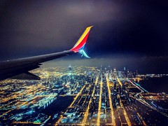 (cy-photography) Tags: aviation airplane plane southwest window flight flying fly swa wn windowseat airliner pixel p3xl pixel3 android night chicago mdw airport landing lights wing winglet beoing 737