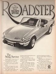 1978 Triumph Spitfire Roadster Advertisement Playboy September 1978 (SenseiAlan) Tags: 1978 triumph spitfire roadster advertisement playboy september