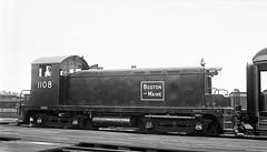 "Boston & Maine EMC ""SC"" #1108 at Boston, MA (Houghton's RailImages) Tags: bostonmaine bm emc emd sc boston diesel locomotive bw trains locomotives massachusetts usa railroad"