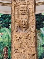 The tallest Stela in the world of the ancient Maya, with an enormous sculpture portrait of the king (January 24, AD 771) (lhboudreau) Tags: stone stonecarving monuments carving carvings monument sculpture sculpted carved maya mayan ancientmaya ancientmayan antiquities antiquity stela sandiego california museumofman anthropology balboapark stones rock rocks king portrait