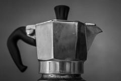 Don't ask me why. (davidmilletti) Tags: tamron canon primelens 45mm biancoenero bw bnw monochrome stilllife metal moka coffee caffeine blackandwhite
