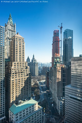 Park Row Skyline (20190203-DSC00700-Edit) (Michael.Lee.Pics.NYC) Tags: newyork lowermanhattan aerial hotelview milleniumhilton millenniumhitlon architecture cityscape sony a7rm2 zeissloxia21mmf28 construction parkrow 25parkrow municipalbuilding thurgoodmarshallcourthouse woolworthbuilding cityhallpark policeplaza brooklynbridge