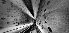 Philharmonic tunnel (zuiko12) Tags: fisheye sw bw hamburg club16 mzuiko olympus prime zuiko cityscape omd em1 8mm