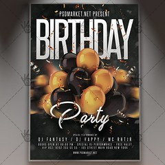 Birthday Event Flyer - PSD Template (PSD market) Tags: anniversary anniversaryparty annual birthday birthdayeventflyer birthdayflyer birthdaynightflyer birthdaynightposter birthdayparty birthdaypartyflyer birthdayposter birthdaypostertemplate birthdaypsdtemplate black celebration deluxe elegant exclusive gold golden
