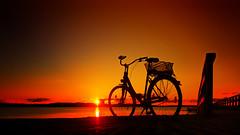 bike at the beach (Ostseeleuchte) Tags: sunset balticsea niendorf ostsee sonnenuntergang