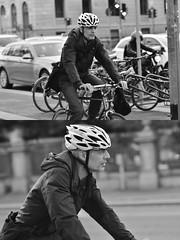 [La Mia Città][Pedala] (Urca) Tags: milano italia 2018 bicicletta pedalare ciclista ritrattostradale portrait dittico bike bicycle nikondigitale scéta biancoenero blackandwhite bn bw 118327