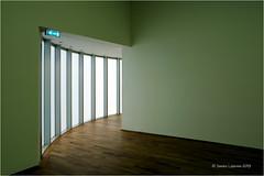 Emergency Exit (Sandra Lipproß) Tags: mmk museumofmodernart frankfurt architecture lines kurves green minimalism abstract art hanshollein simplicity availablelight grün museumfürmodernekunst architektur linien kurven kunst