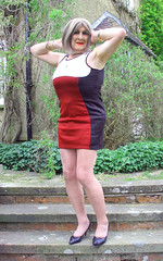 maxbdyconsteps-001 (fionaxxcd) Tags: crossdresser crossdressing tranny trannie transvestite m2f mtf gurlboy pantyhosetights legs bust blonderednails bodycondress minidresscrossdresser minidress