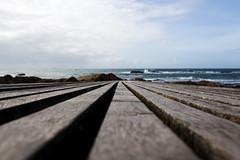 _MG_1001 (Jagot) Tags: canonef28mmf18usm canoneos6d porto portugal beach boardwalk wood path rocks sea ocean sky clouds