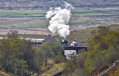 Blea Moor North Yorkshire 29th April 2017 (loose_grip_99) Tags: railway railroad rail train settlecarlisle blea moor signalbox midland telephoto yorkshire mainline lner a1 462 pacific 60163 tornado steam engine locomotive transportation gassteam uksteam trains railways 2017