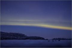 la nuit sur un lac de Laponie (kalzennyg) Tags: laponie finland kalzennyg nothernlights aurore boréale winter
