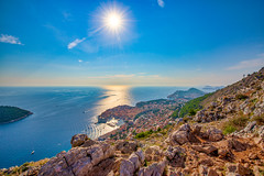 Summer Splash (Shawn Harquail) Tags: croatia dubrovnik shawnharquail sunset travel boat cityscape cliff landscape panorama seascape shawnharquailcom sunstar travelphotography valley vista