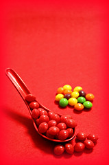 2019 Flickr Friday: Palindrome (dominotic) Tags: 2019 flickrfriday palindrome redder skittles food confectionery lolly red yᑌᗰᗰy foodphotography sydney australia