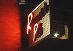 Riverside Pub Neon Glow (Coastal Elite) Tags: riversidepub neon sign lit night lights lighting néon enseigne affiche bedford highway novascotia canada dark nightshot letters riverside pub bar eatery soir nuit halifax hrm missing unlit neons red rouge glow signs suburban cursive