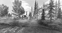 Cabin (Loegan Magic) Tags: secomdlife cabin blackandwhite monochrome landscape trees winter snowgrass sky fence