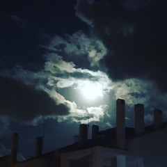 Because I never knew you could hold moonlight in your hands (Alejandra Oonagh) Tags: nightphotography sky clouds building nightlight nighttime night supermoon moon moonlight