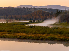 Snake River Sunrise (Ramona H) Tags: grandtetonnationalpark oxbowbend snakeriver tetons wy wyoming nationalpark oxbow sunrise