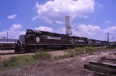 Power at Hugo (ujka4) Tags: kiamichirailroad krr hugo oklahoma ok gp38 3815 dieselservicing servicetracks
