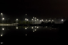 Urban Stars (Edgaras Borotinskas) Tags: canon6d reflection starbusts night scotland landscape nightphotography photography outdoor water person silhouette darkness mysterious sigma 50mm f14 dg hsm art