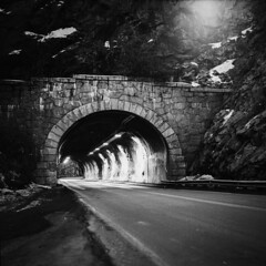 The Tunnel B&W (dylan67krause) Tags: landscape hasselblad film kodak long exposure analogue 500cm 80mm f28 bw black white medium format 120 d76 400asa tmax 6x6 square