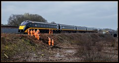 Orange is the new black (Blaydon52C) Tags: networkrail class180 grandcentral adelante heatonlodge huddersfield mirfield yorkshire railway rail railways trains train transport dmu northern railroad