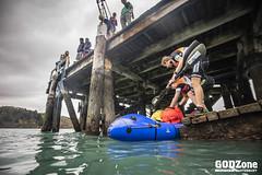 Pack rafting Lyttleton Harbour