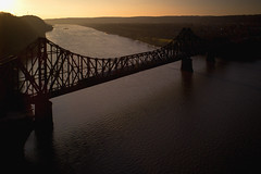 Last CSX at sunset (benpsut) Tags: dji drone dramatic dronephotography djiphantom4pro sun sunset dusk lastlight backlit backlight orange dusky trains railroad csx csxpittsburghsub monaca ohio river ohioriver beautiful photography photo aerial aerialphotography