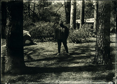 Hatchet Boi (Blurmageddon) Tags: 5x7 largeformat wetplatecollodion alternativeprocess alumitype tintype newguycollodion camping outdoor nature portrait epsonv700