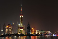 Shanghai night (meren34) Tags: shanghai china night light long exposure skyscraper tower sea reflection water city southasia happyplanet asiafavorites