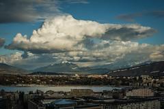 Bientot la fin de l'hiver (bewo22) Tags: europe europa suisse suiza switzerland genève paysages landscapes paisaje montagne mountain montaña nuage cloud nube ville city ciudad groupenuagesetciel