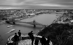 DSC_0089 (peter-agoston) Tags: budapest pest danube szabadsaghid hungary blackandwhite blackandwhitestreet gellerthegy gellerthill city cityscape