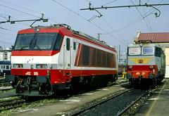 FS E402.006 + E 656.257 Firenze 18/03/2000. Foto Roberto Trionfini (stefano.trionfini) Tags: train treni bahn zug fs e402 e656 firenze toscana italia italy