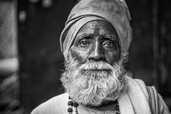 Dharamsala sadhu (andy_8357) Tags: hindu dharamsala india mccleod ganj man turban sadhu hinduism intense portrait portraiture sony a6000 alpha 6000 ilcenex ilce6000 mirrorless canon fd 50mm f14 vintage lens prime bokeh shallow dof uttar pradesh indian old rich focuspeaking manual focus beard eyes eye contact