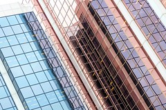 Pink & Blue Glass (Karen_Chappell) Tags: pink blue glass windows building tilt angle architecture reflection pastel white geometry geometric rectangle stjohns city urban downtown canada atlanticcanada avalonpeninsula eastcoast newfoundland nfld canonef24105mmf4lisusm reflections abstract