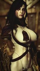 Romy - Enter Dwemer Ruin (DiamondbackVIII) Tags: elder scrolls v skyrim breasts dwarven bikini armor cyborg romy robot eyes nisetanaka