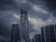Stormy In Surfers (mcgimpseyphoto) Tags: sky stormy overcast buildings surfersparadise goldcoast
